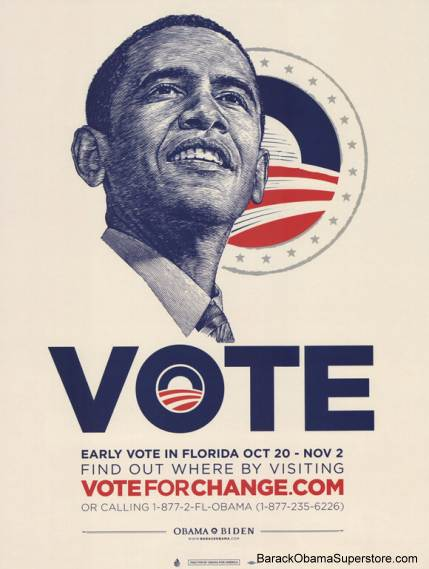 COOL BARACK OBAMA FLORIDA CAMPAIGN POSTER
