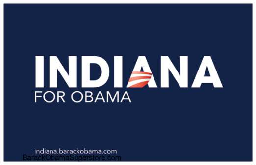 CLASSIC BARACK OBAMA INDIANA CAMPAIGN POSTER