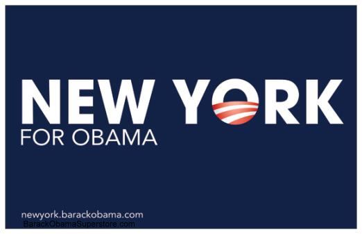 CLASSIC BARACK OBAMA NEW YORK CAMPAIGN POSTER