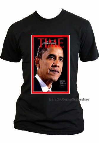 BARACK OBAMA COLLECTIBLE HISTORIC MAGAZINE COVER T-SHIRT