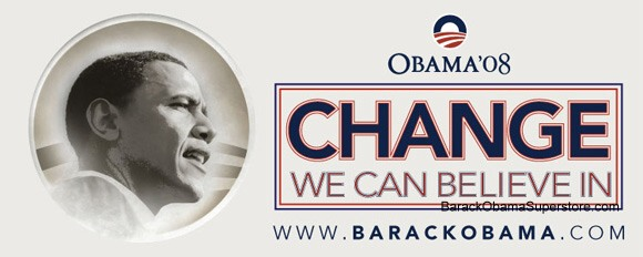 FABULOUS BARACK OBAMA OVERSIZE CAMPAIGN BANNER - COLLECTIBLE 5