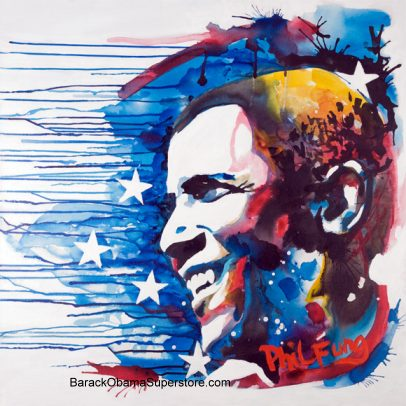 WONDERFUL BARACK OBAMA CANVAS  GICLEE � LIMITED EDITION OF 300