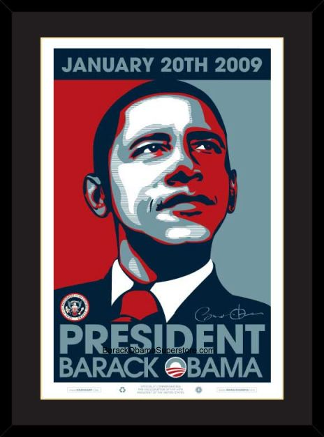 EXCELLENT FRAMED COMMEMORATIVE BARACK OBAMA PRESIDENTIAL