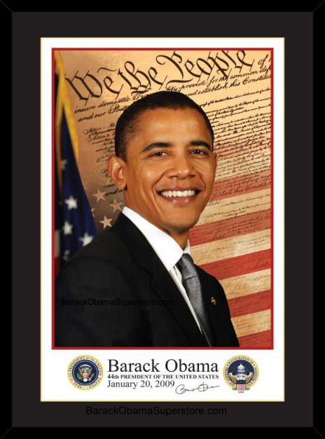 EXCELLENT FRAMED  BARACK OBAMA INAUGURAL PORTRAIT(SM)