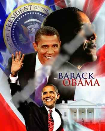 FAB BARACK OBAMA  COLLECTIBLE COLLAGE FINE ART PRINT