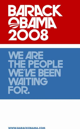 FAB BARACK OBAMA  WE ARE THE PEOPLE COLLECTIBLE CAMPAIGN POSTER