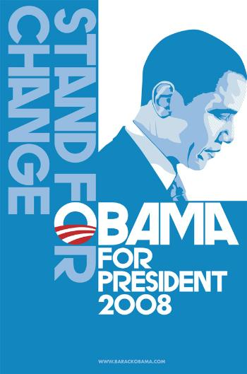 RARE BARACK OBAMA  COLLECTIBLE CAMPAIGN POSTER