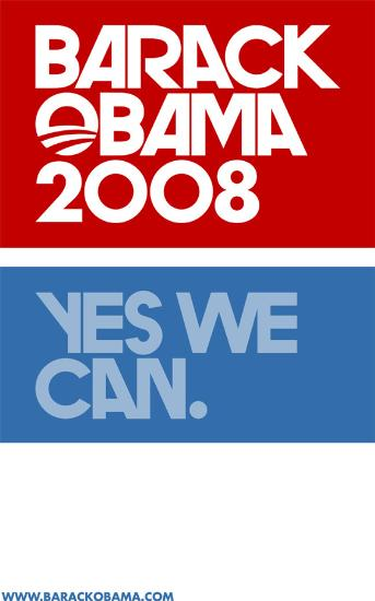 FAB BARACK OBAMA YES WE CAN  COLLECTIBLE CAMPAIGN POSTER