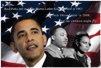 BARACK OBAMA Dr. KING & ROSA PARKS FINE ART PRINT
