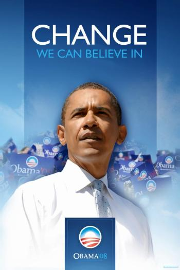 BARACK OBAMA  COLLECTIBLE CAMPAIGN POSTER