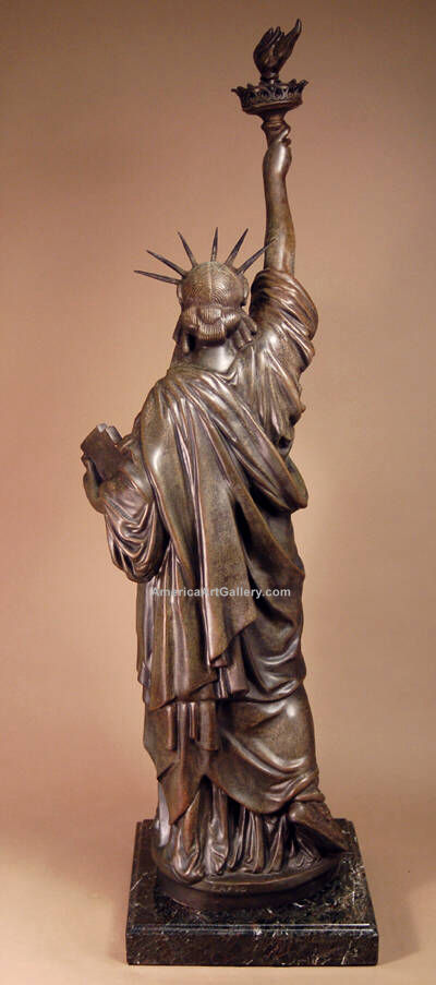 FABULOUS EXTRAORDINARY BRONZE STATUE OF LIBERTY SCULPTURE
